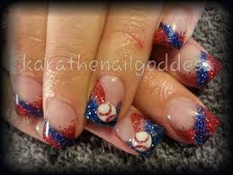 new nail design ideas gloves glitter uniqe special cool baseball
