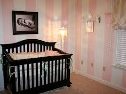 Pink And Brown Curtains For Nursery by Interior White Wooden Baby Bedding With Two Pink Curtains Also