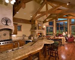 mountain homes interiors rustic kitchen designs for mountain homes wood deiling wood floor