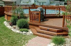 Deck Landscaping Ideas Above Ground Pool Landscaping Ideas Swimming Pool Landscape Pictures