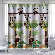 Unique Bathroom Shower Curtains Mainstays Monkey Decorative Bathroom Shower Curtain Unique