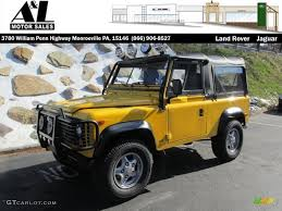 1997 land rover defender 90 1997 aa yellow land rover defender 90 soft top 95116840 photo 5