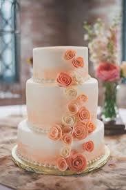 peach ombre wedding cake classic peach and gray wedding pretty cakes wedding cake and ombre