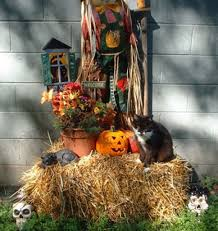 Fall Hay Decorations - 41 best outdoor decorating images on pinterest autumn seasonal