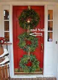 wreath for front door christmas door ideas decorate with triple wreaths front doors