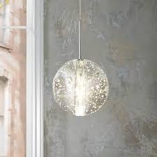 Glass Orb Ceiling Light Et2 Orb 4 1 2 Wide Clear Glass Mini Pendant V1434