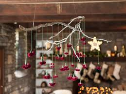 How To String Lights On Outdoor Tree Branches by How To Make A Hanging Branch Chandelier For Your Holiday Party