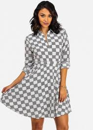 fit and flare long sleeve midi dress