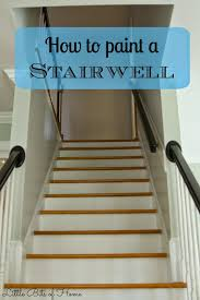 how to paint a stairwell without hiring help good suggestions
