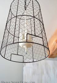 Pendant Light Wire Chicken Wire Storage Basket Pendant Lights Hometalk