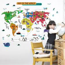 World Map Wall Decal by Compare Prices On Map Room Decor Online Shopping Buy Low Price