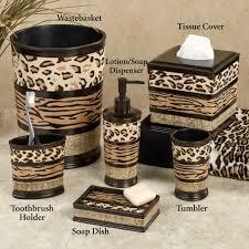 beautiful leopard print bathroom decor 6 accessories on animal