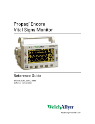 welch allyn 206el propaq encore vital signs monitor user manual