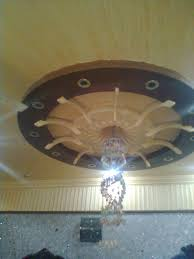 Pop Designs On Roof Without Fall Ceiling False Ceiling Design With Round Around The Chandelier Lights By