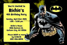batman birthday invitations templates best invitations card ideas