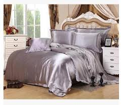 silver bedding sets california king size queen full grey duvet