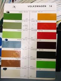 vw original paint color chart cars i love pinterest paint