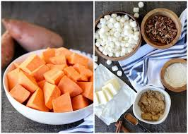 Sweet Potato Recipe For Thanksgiving With Marshmallows Sweet Potato Casserole With Marshmallows And Streusel
