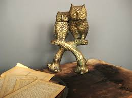 vintage brass owl duo sold the savoy flea