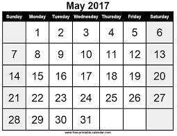 2017 blank calendar templates