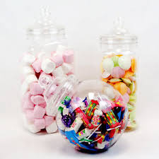 Plastic Candy Containers For Candy Buffet by 3 Large Retro Plastic Jars Candy Buffet Sweet Shop Wedding Kids