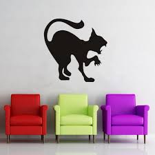 compare prices on stencil cat wall online shopping buy low price black cat wall stickers halloween plane cartoon window glass stickers hot children vinyl home