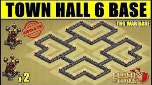 coc map layout th6 video th6 2 air defense war base town hall 6 two air defense