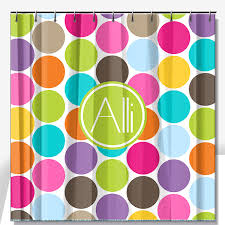 Colored Shower Curtain Personalized Shower Curtain Monogrammed Shower Curtain Custom