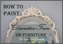 How To Paint Furniture Black by How To Paint Decorative Trim On Furniture