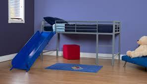 kids room twin low loft bed with slide metal twin size loft bed