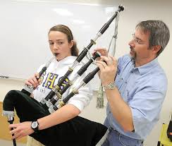 usu biology professor leads fledgling bagpipe band cache valley