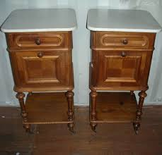 marble top bedside table a pair of walnut french marble top bedside tables bedside