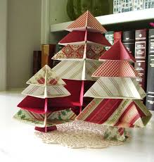 Paper Home Decor Unique Christmas Decorating Ideas With Wrapping Paper Red White