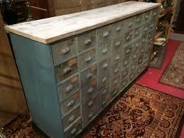 meuble de metier industriel rare meuble de quincaillerie 48 tiroirs polychrome rouen et pacy