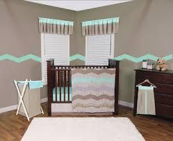 Grey Chevron Crib Bedding Set Trend Lab Cocoa Mint 3 Piece Crib Bedding Set Baby Baby