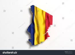 Chad Map 3d Rendering Republic Chad Map Flag Stock Illustration 468303716