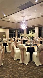 discount linen rentals black chair covers with hot pink satin sashes traditional bow