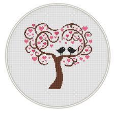 tree сross stitch pattern instant free