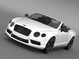 bentley black convertible bentley continental gt v8 s convertible 2014 3d model max obj 3ds
