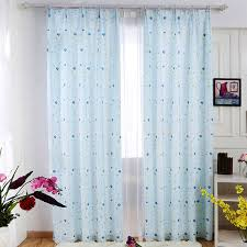 Blue Window Curtains Fresh Baby Blue Polyester Shaped Patterned Bay Window Curtains