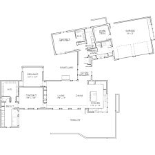 modern contemporary floor plans modern style house plan 2 beds 2 baths 2331 sq ft plan 892 8