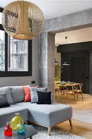 Designer Ecksofa Lava Vertjet Mix Match Interior Redesign Wohnzimmer Loft Stil Beton Wohnung