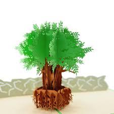 Tree Pop Up Pop Up Olive Tree Card Pop Up Olive Birthday Card Kirigami Olive