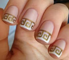 revisit the classics with greek inspired french nails fun french
