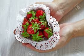 s day strawberries strawberries for s day in heart shaped box stock photo