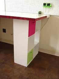 Build A Work Table Building A Work Table Using A Door And Closet Cubbies Trendy