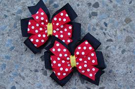 mickey mouse hair bow 2 minnie mouse hair bows and black minnie mouse hair