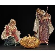 outdoor nativity set outdoor nativity set 48 fontanini holy family lighted christmas