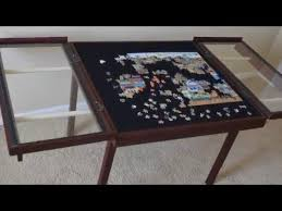 Jigsaw Puzzles Tables Woodbuckle Windowpane Puzzle Table Youtube
