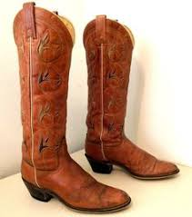 womens cowboy boots in size 12 vintage boho hippie acme brand womens cowboy boots